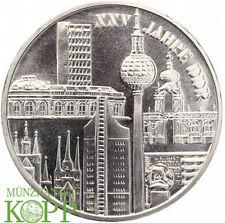Aa885) j.1552 DDR 10 mark 1974 - 25 años RDA-ciudades motivos-Plata