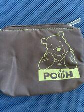 Disney Zipper Pouch Winnie The Pooh Cosmetic/Coin Travel Bag Purse + Journal