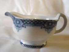 Flow Blue Windsor Pottery Longton 1900 Eric CWS Co Operative Gravy Boat