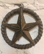 Cast Iron Star Rope Country Western Rustic Home Wall Plaque Decor Primitive #309