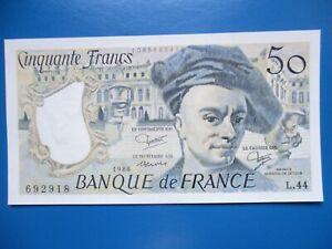 50 Francs  Quentin De La Tour  1986   NEUF