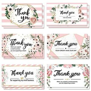 120 Thank You Business Cards Small Thank You for Your Order Shopping Purchase to