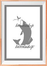Fishing Fish A4 Mylar Reusable Stencil Airbrush Painting Art