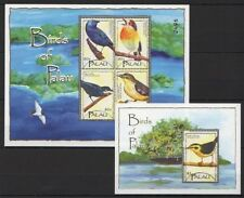 Palau 2004 MNH SS+MS, Birds, Parrot Finch,  Dusky White Eye - V27