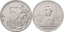 RUSSIA 5 Rublos RUSIA 2016 Ciudades Liberadas II Guerra Berlin. 2.05.1945