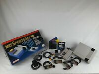 NES Console Sport Set Complete In Box Satellite Game Cleaned Tested Nintendo CIB