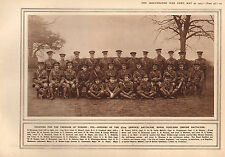 1915 WWI PRINT ~ OFFICERS OF THE 17th BATTALION ROYAL FUSILIERS EMPIRE NAMED
