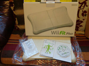 wii fit plus board boxed with game