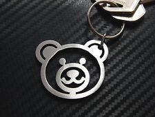 BEAR HEAD Teddy Cuddly Toy Cute Teddy Ted Keyring Keychain Key Fob