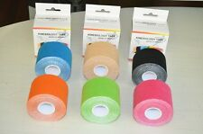 6 x MADISIO KINESIOLOGY KINESIO TAPE SYNTHETIC 5m x 5cm coloured