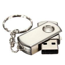 64GB Silver Metal USB Flash Drive USB 2.0 Memory Stick Pendrive Key Chain U Disk