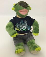 "Build-A-Bear Dinosaur Plush With Clothes Dino Mania Shirt Shorts 15"""