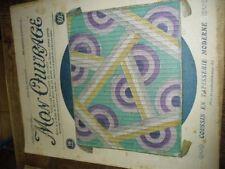 MON OUVRAGE.1930. BRODERIE. N 177. DU 1 JUILL. COUV.COUSSIN EN TAÏSSERIE MODRENE