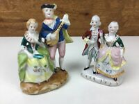 Occupied Japan Victorian Courting Man And Women Figurines Set Of 2