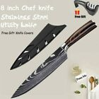 8'' Kitchen Chef Knife Japanese Damascus Style Stainless Steel Cleaver Best Gift