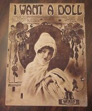 I Want A Doll  sheet music by Harry Von Tilzer