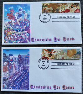 Sc 4417-20 Macy's Thanksgiving Day Parade FDC - NBC cachet complete set/2