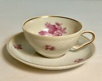 Vintage Thomas Demitasse Tea Cup and Saucer Set Made in Germany Roses