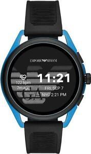 $375 - Emporio Armani Touchscreen Smartwatch 3 Black/Blue EPDM Rubber ART5024