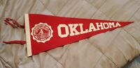 1960's OKLAHOMA UNIVERSITY SOONERS VINTAGE FELT PENNANT FLAG BANNER