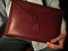 Handmade Genuine Leather macbook pro sleeve case for new macbook air pro 13 15