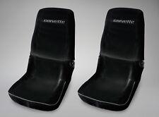 1978-1982 Corvette C3 Seat Saver Protector Covers - Black with Corvette Script