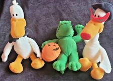 3 pcs vintage collector 2002 plush Sitting Ducks Mcdonalds Happy Meal toys