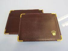 Rolex Burgundy Leather card holder 0101.70.05