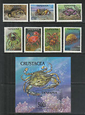 Tanzania 1994 Local Crabs--Attractive Marine Life Topical (1295-1302) MNH