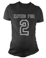 Ladies MATERNITY T-Shirt Eating For 2 Funny Womens PREGNANCY Baby Shower Gift