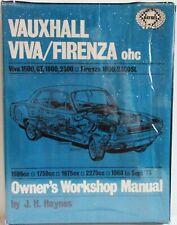 Haynes - Opel Viva / Firenza ( Ohc ) 1968 - Sept 1973 / Manuel Atelier