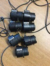 """Lot Of 7 Computar 1/2"""" Cs Mount 4.5-10mm 1:1.6 Varifocal Manual Iris Lens"""