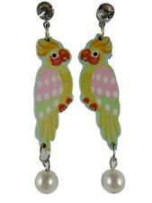Ohrringe Ohrstecker Stecker Papagei Ara bunt Tier Vogel Perle Straß 8011