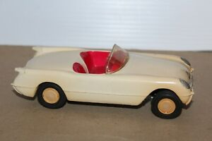 VERY NICE FRICTION OPERATED 1953-54 CHEVROLET CORVETTE ROADSTER  PROMO CAR #2