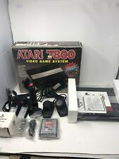 Vintage Atari 7800 Video Game Pro System Console in Box - complete w/games