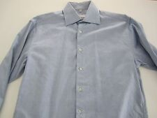 DAMIANI Made in Italy Blue Spread Collar Dress Shirt 16 EU 41 AMAZING