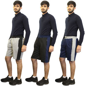 Mens Boys Casual Gym Fleece Jogger Sports Running Pants Side Panel Summer Shorts