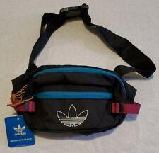 Adidas Originals Utility Crossbody Bag Fanny Pack Black/Active Teal/Berry CL5460