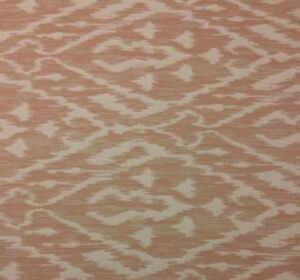 BALLARD DESIGNS FELICITY PETAL SUNBRELLA PINK IKAT OUTDOOR INDOOR FABRIC BY YARD