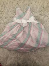 Janie And Jack 18 24 Months Baby Girls Spring Easter Dress Plaid Pink Mint