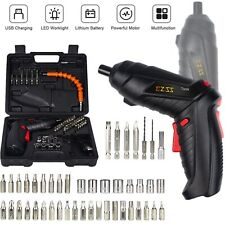 48IN1 Cordless Electric Screwdriver Power Tool Bit Set Rechargeable Drill Driver
