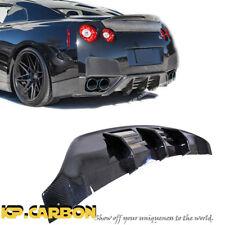 For 08-11 Nissan GTR R35 CBA Use KP-W Type Carbon Fiber Rear Bumper Diffuser Lip
