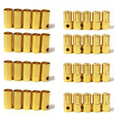 20 pairs 6.5mm gold plated bullet Banana connector plug for RC Lipo battery Quad