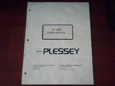 Plessey PT-100B Users Manual ASCII Terminal DEC VT100
