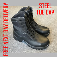 BLACK GOLIATH YDS British Army Issue STEEL TOE CAP SAFETY BOOTS TACTICAL