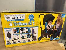 SmarTrike STR 3 Plus Kids 6 in 1 Compact Folding Stroller Trike Blue NEW
