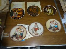 Knowles Vintage Norman Rockwell Collector Plates Set Of 6