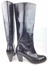Frye 150th Anniversary Mustang Pull On Black Leather Knee High Boots sz: US 7.5