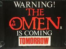 THE OMEN (ADVANCE) 1977 Original Cinema UK Quad Movie POSTER ROLLED RARE