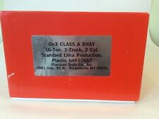 """On3 """"16 Ton 2-truck 2-cylinder Class 'A' SHAY"""" by PSC, Plastic KIT, new in box"""